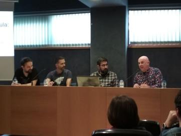 Charla sobre concursos de prototipos con Pau Carles, Eloy Pujades, Joan Pons y Oriol Comas