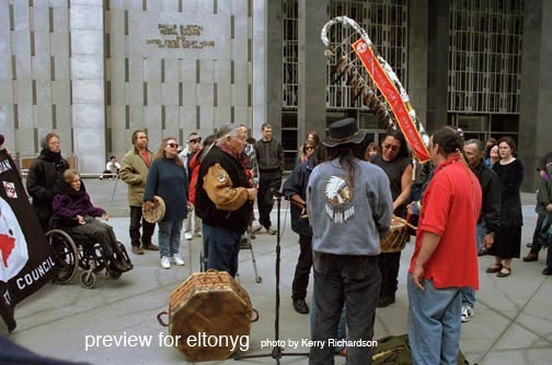 Willie, Flyod at demo for Leonard in SF.JPG