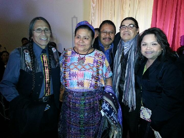 Rigoberta Menchu Tum in Fresno December 20, 2013 with David Alvarez, Angel Canil