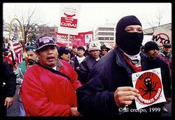 Tony, jimbo, Mac, Johnny Jackson, and Battle for Seattle 1999.jpg