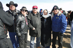 Tom Poor Bear Tony Gonzales Len Foster others at 40 year reunion at WOunded Knee