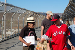 Tony protest against Cleveland Indians August 16, 2013.JPG