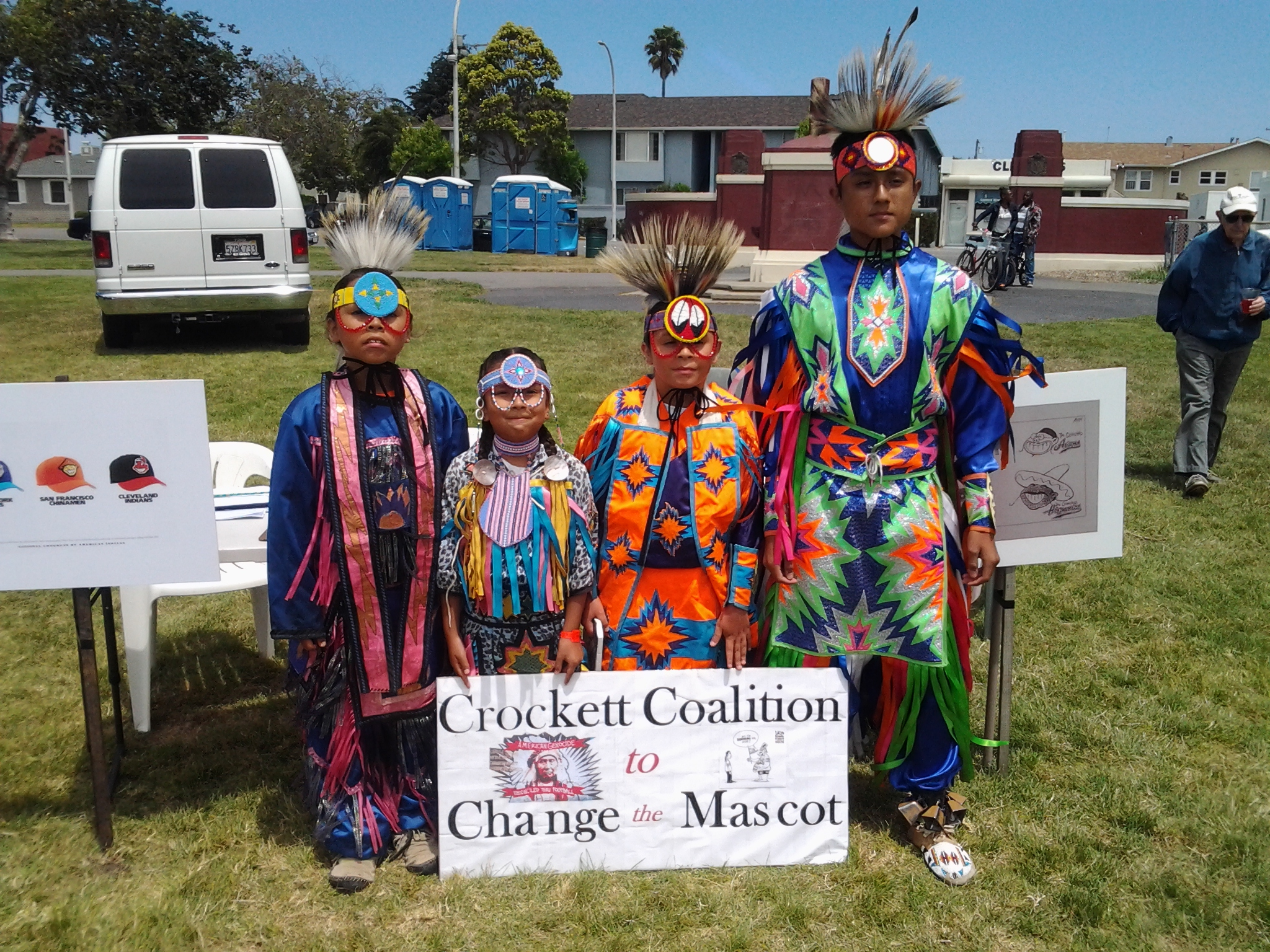 Crockett Coalition to Change the Mascot at Richmond Powwow June 21, 2014.jpg