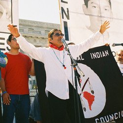 Tony Gonzales at immigration rights rally May 2006