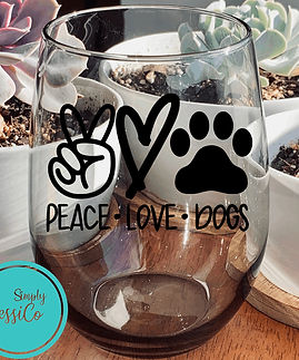 Simply JessiCo Peace Love Dogs Symbols W
