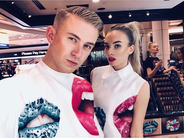 _maccosmetics overload! United Productions dancers _billylawrencee and _daisy7ones at _maccosmetics Art of the Lips events! We are obsessed_