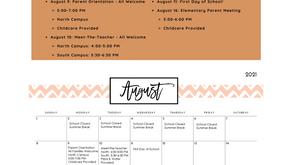August Newsletter - 2021