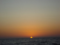 Sunset in Gaza