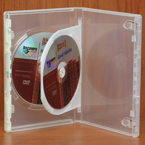 Dual DVD Case, Clear (price for 100)