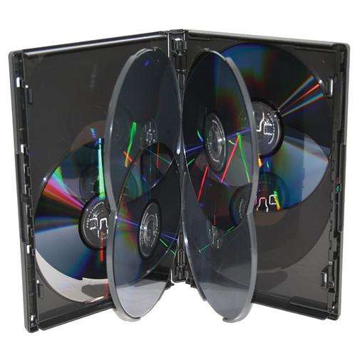 DVD 6-Pack Case, Black (price for 100)