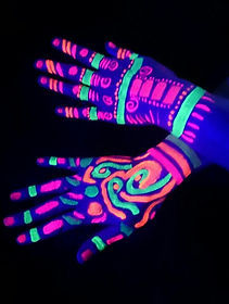uv painted hands