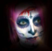facepaint sugar skull,facepainting hire merseyside,cre8tiv deezine