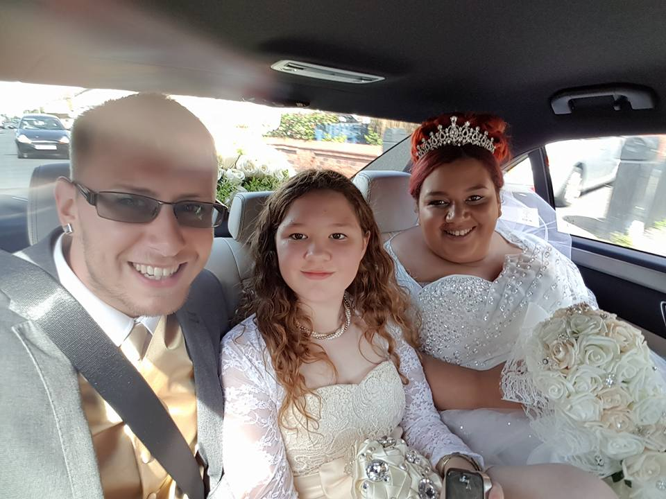 wedding on the way to church