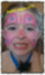 pink butterfly face paint