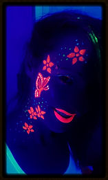 UV BUTTERFLY FLOWER FACE ART