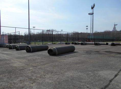 Реконструкция футбольного поля №9 в Лужниках