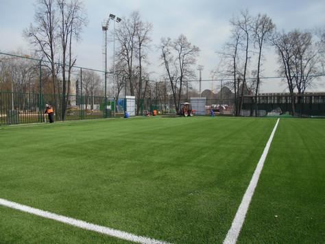 Реконструкция футбольного поля №17 в Лужниках завершена