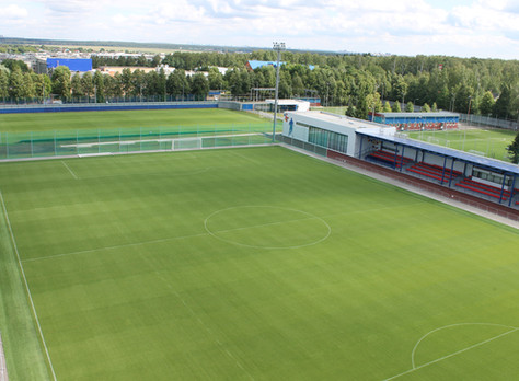 Обслуживание полей на тренировочной базе ЦСКА