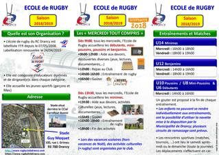 Ecole de Rugby & nouveautés