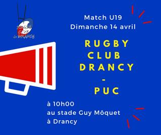 Match Juniors dimanche 10 avril