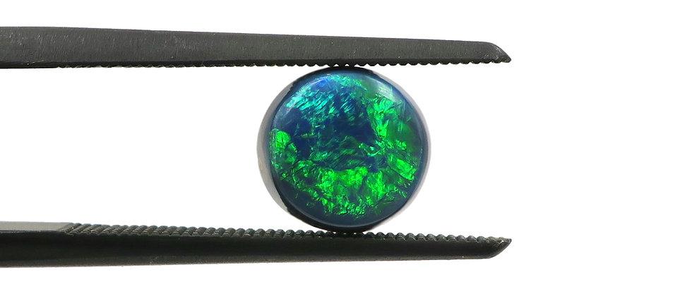 1.17 ct Round Black Opal | 6.9 x 6.6 mm