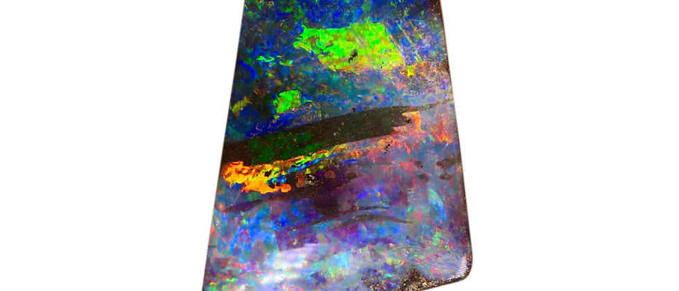 24.24 ct Rainbow Trapezoid Boulder Opal