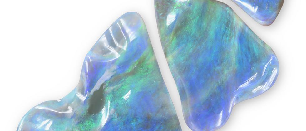 141.78 cttw Semi-Black Carved Opal Suite