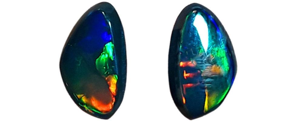 2.89 cttw Black Opal Pair