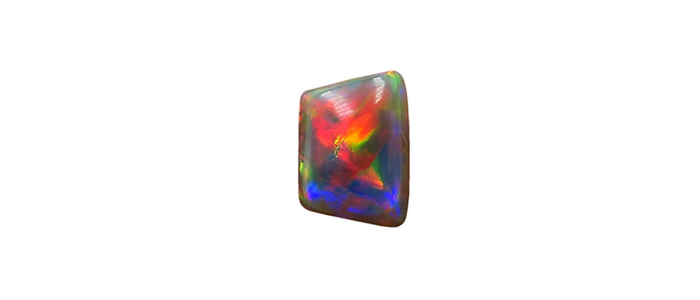 1.25 ct Red Trapezoid Dark Opal