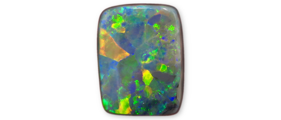 4.39 ct Cushion Black Opal | 13.5 x 10.3 mm