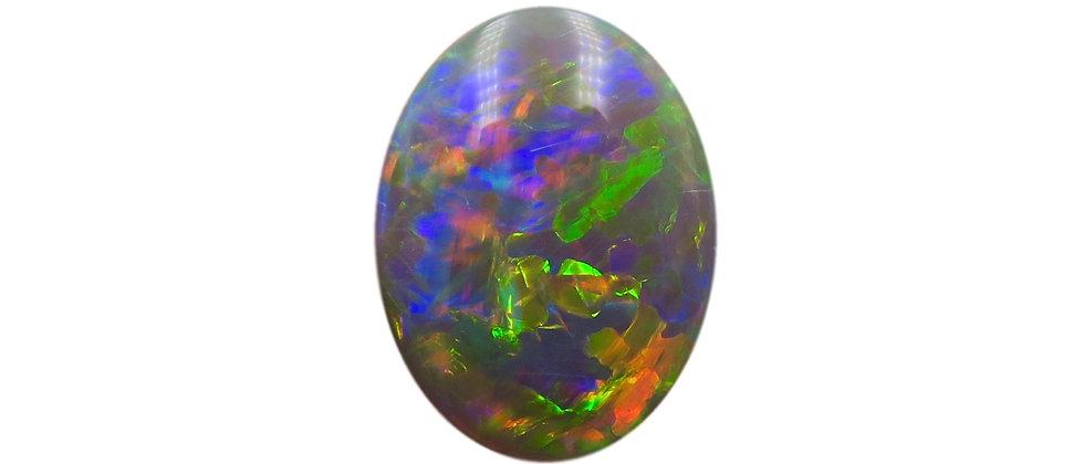 6.90 ct Dark Crystal Opal | 16.20 x 12.20 mm