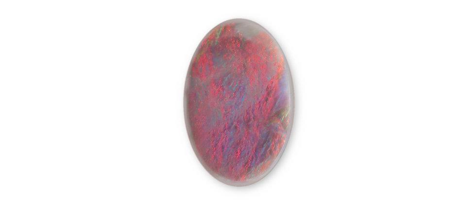 3.15 ct Oval Semi-Black Opal | 13.2 x 8.6 mm
