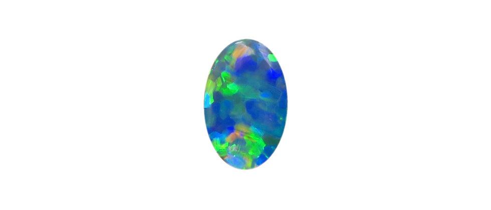 0.45 ct Double Sided Black / Crystal Oval Opal
