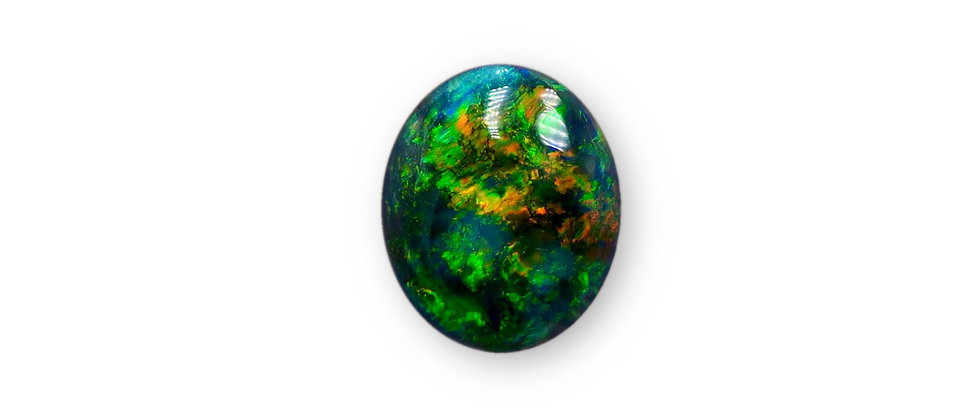 2.70 ct Oval Black Opal | 9.8 x 8 mm