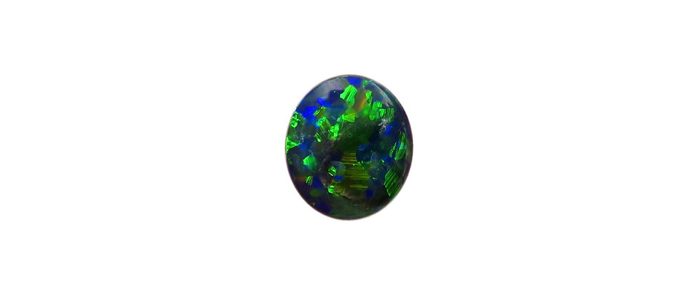 0.38 ct Double-Sided Black Opal | 7 x 6.15 mm