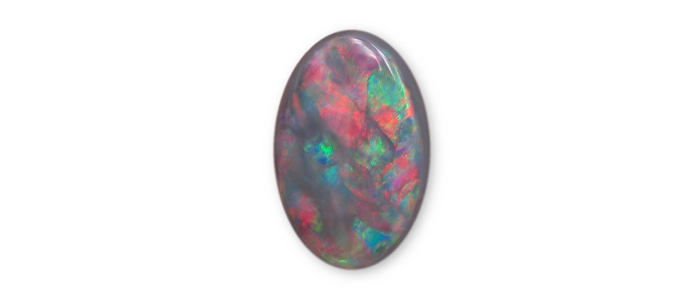 3.15 ct Oval Black Opal | 12.8 x 8.6 mm