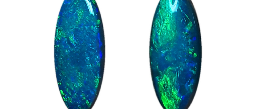 4.74 cttw Black Opal Pair