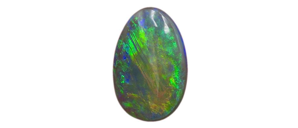 2.64 ct Pear Shape Black Opal