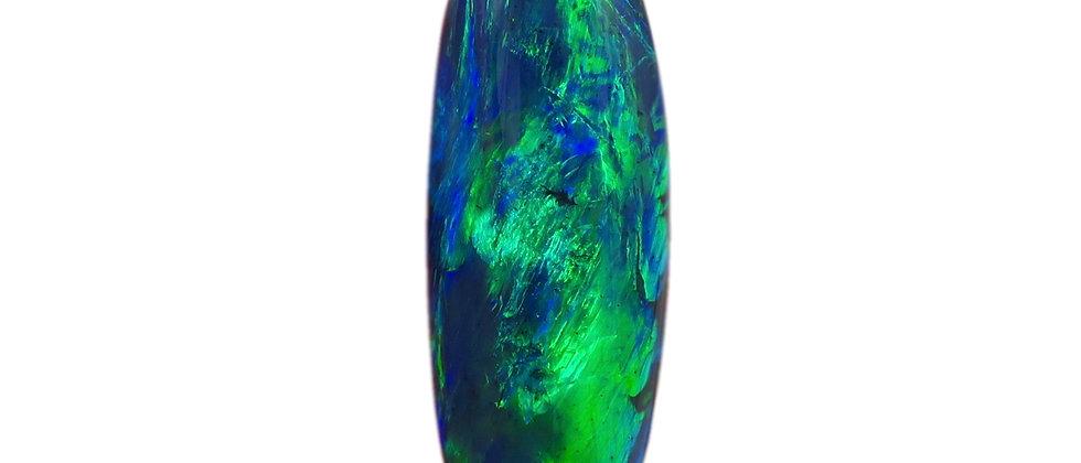 6.59 ct Black Opal | 22.37 x 8.13 mm