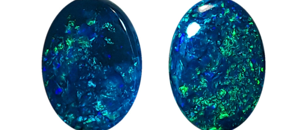 6.39 cttw Black Opal Pair
