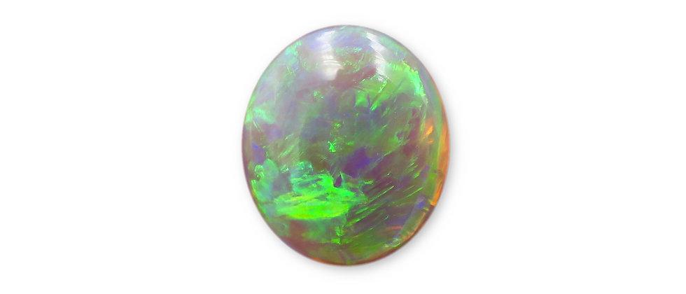 2.65 ct Oval Black Crystal Opal | 12 x 10.2 mm