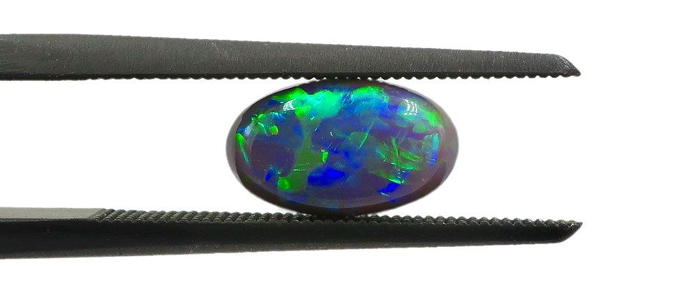 0.77 ct Oval Black Opal | 8.5 x 5.1 mm