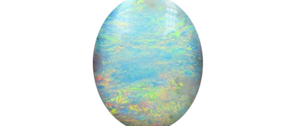 36.45 ct Oval Aqua Pastel Boulder Opal
