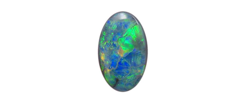 2.03 ct Oval Black Opal | 12.7 x 7.8 mm
