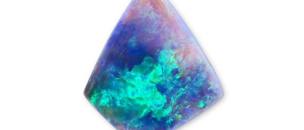 5.95 ct Dark Crystal Opal | 22.1 x 18.9 mm