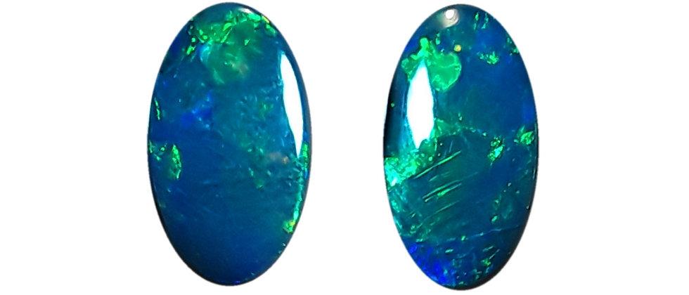 4.60 cttw Black Opal Pair