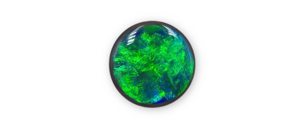 3.85 ct Round Black Opal | 11 x 11.1 mm