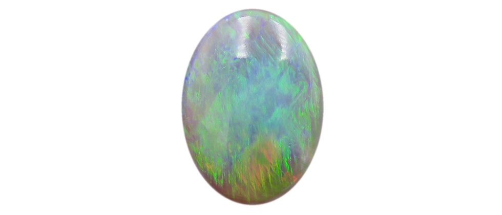 3.63 ct Oval Dark Crystal Opal
