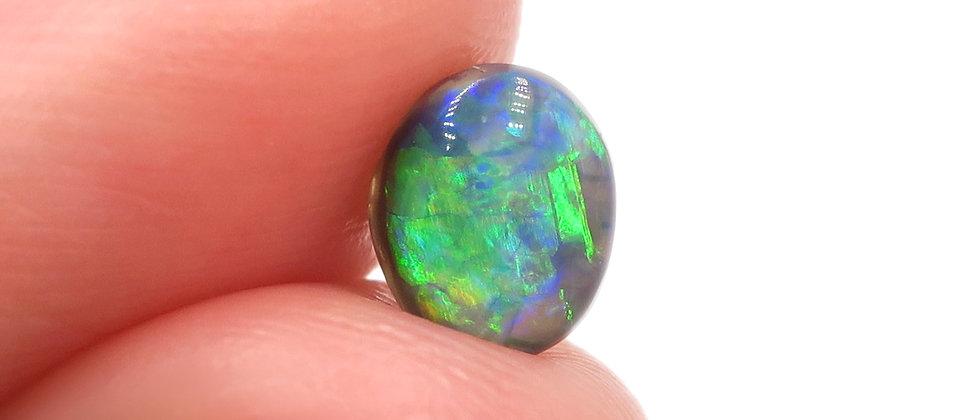 0.75 ct Black Crystal Opal | 6.4 x 5.3 mm