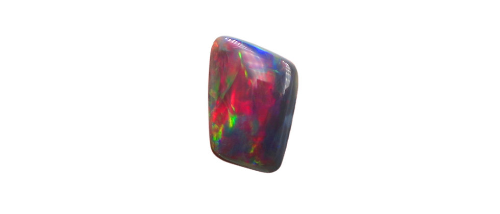 1.23 ct Red Trapezoid Black Opal